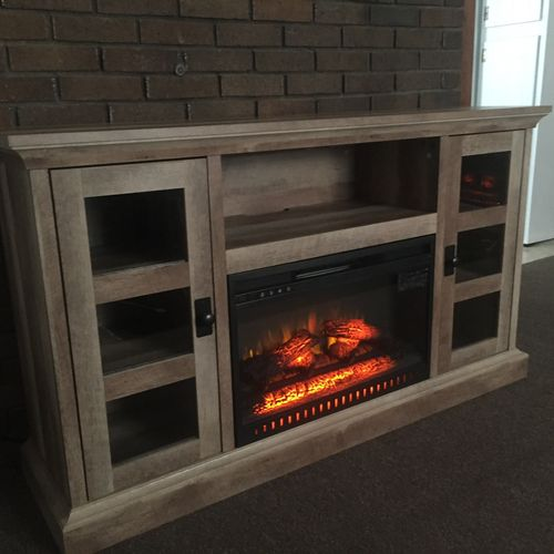 Built a fireplace TV console