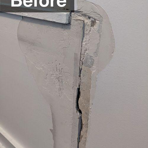Window / Drywall Repair (before)