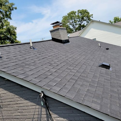 Roof replacement.