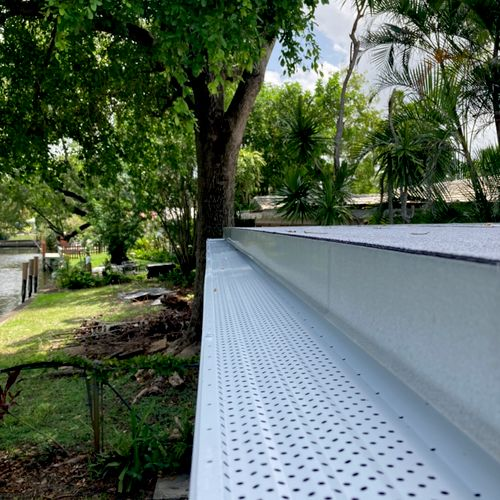 """leaf protection on 6"""" seamless gutter"""