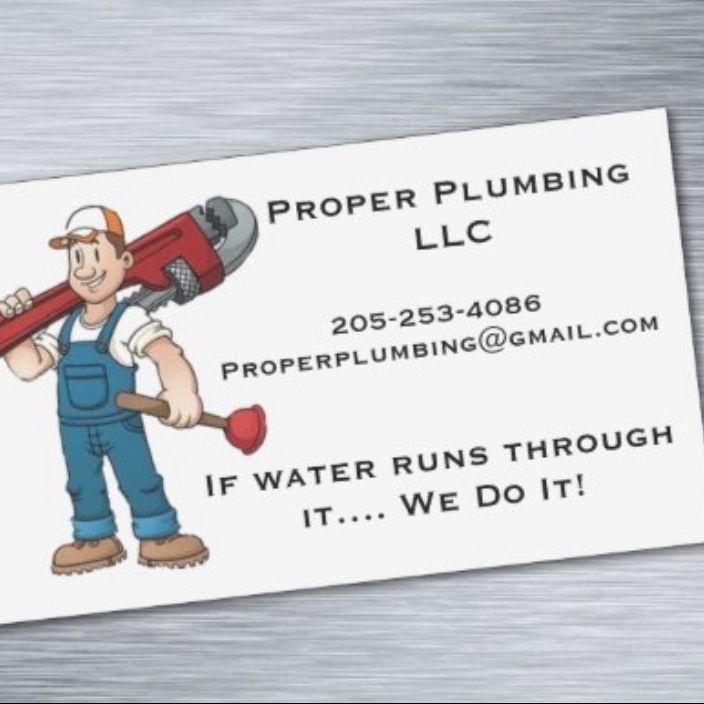Proper plumbing