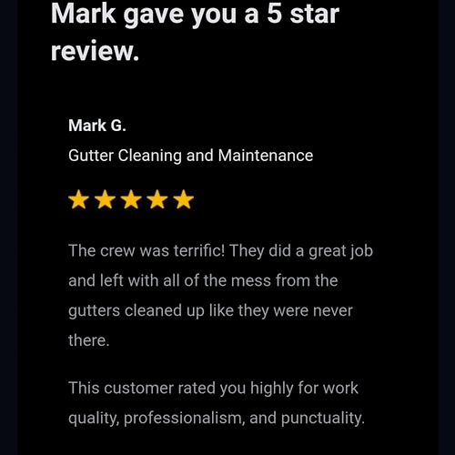 5 Star review from a customer in Nashua, NH