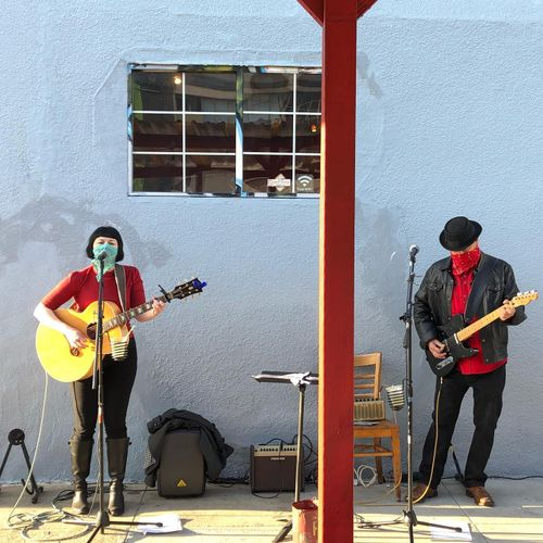 My band and I can wear face coverings while performing for COVID safety.