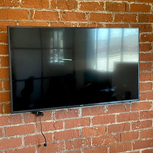 Professional TV mounting.  * Leveled * Measured * No matter what surface * Clean - we will leave the area just as we arrived to it.
