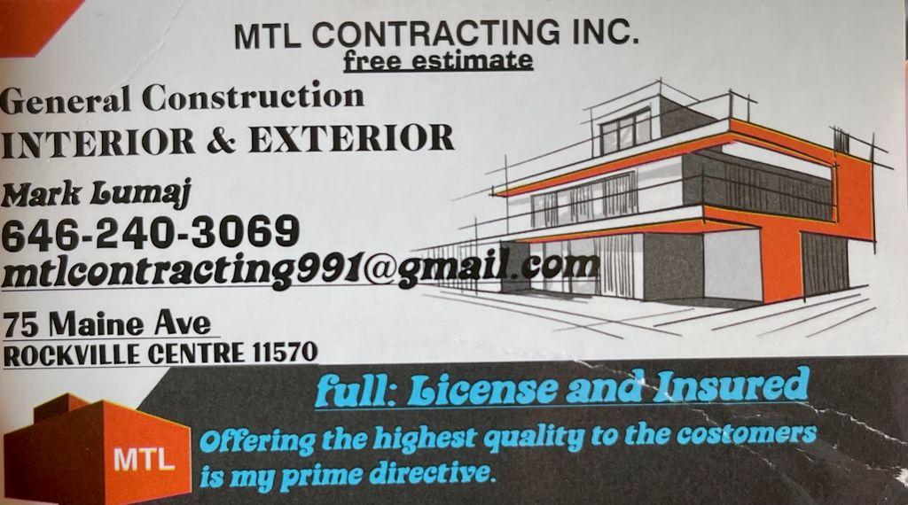 MTL Contracting Inc