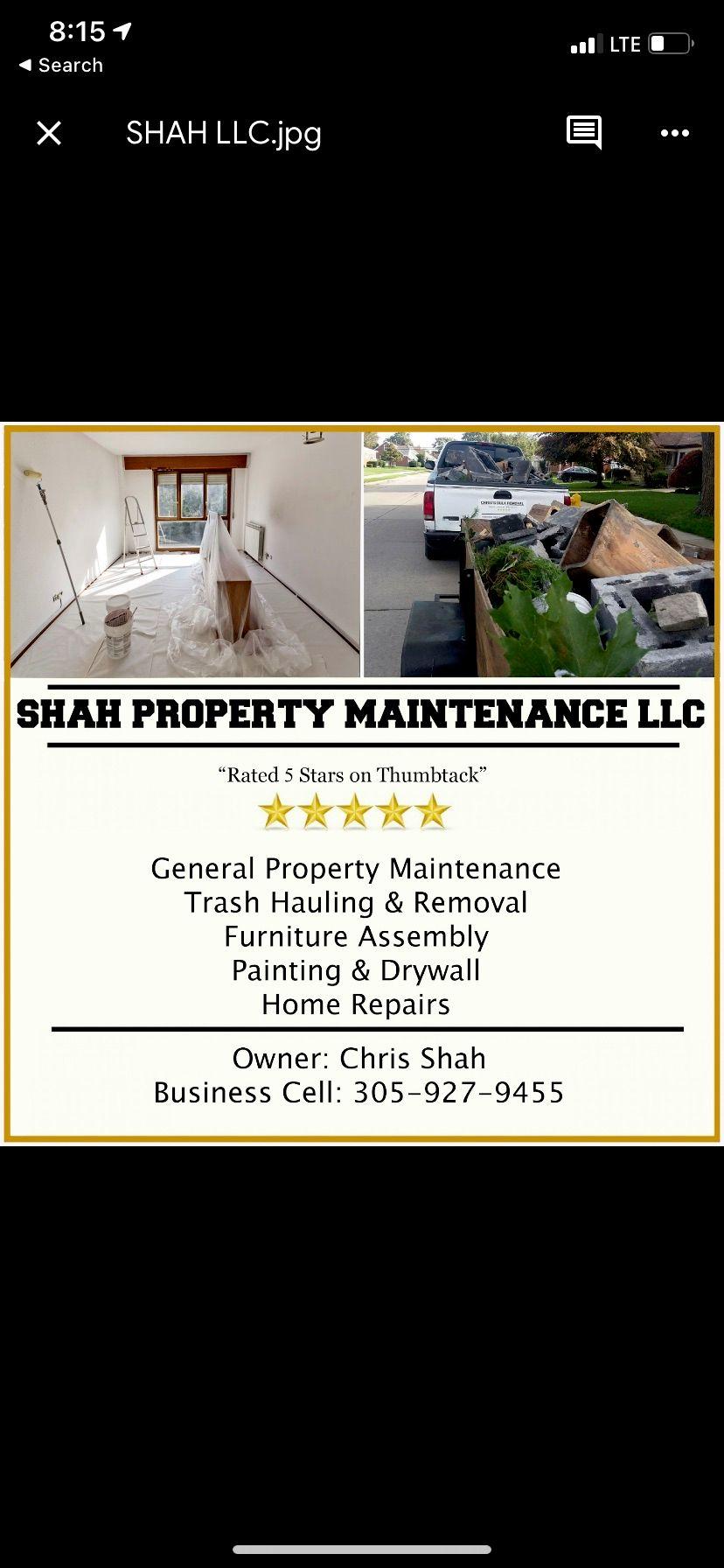 Shah Property Maintenance LLC