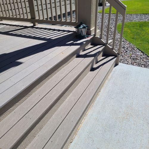 New composite steps and concrete