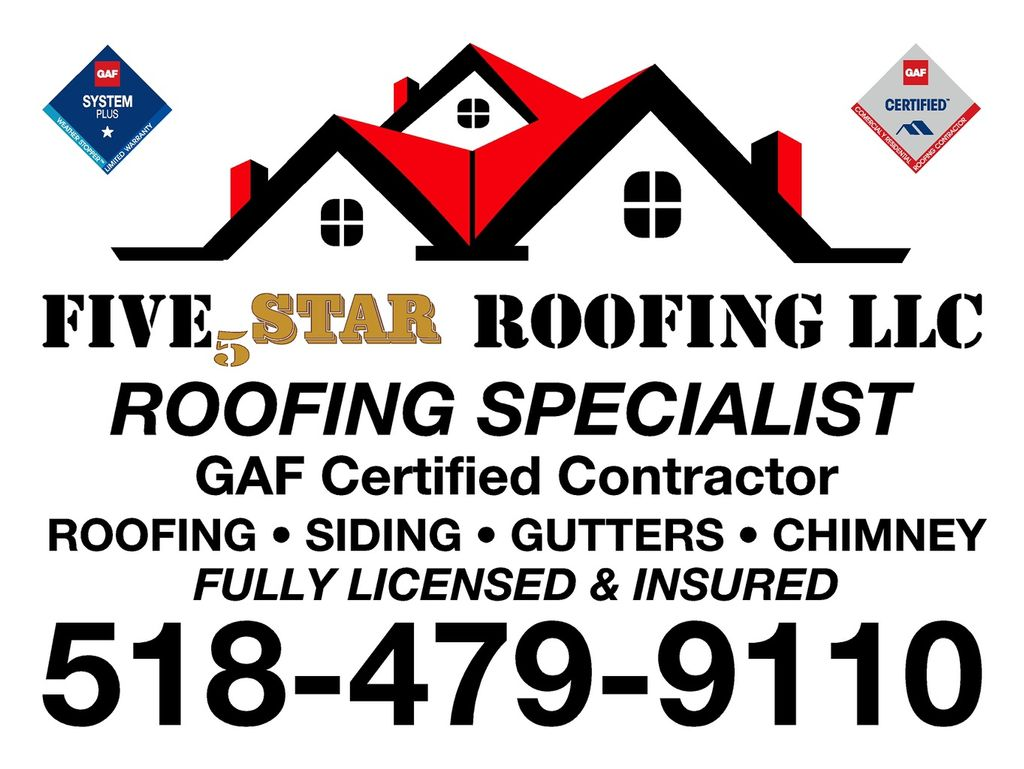 """5""""Five Star Roofing"""