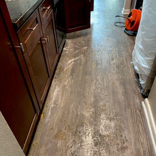 Before  Greasy Floor