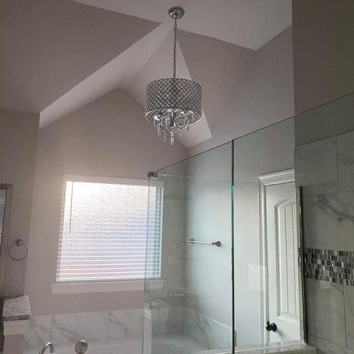 Client bathroom after