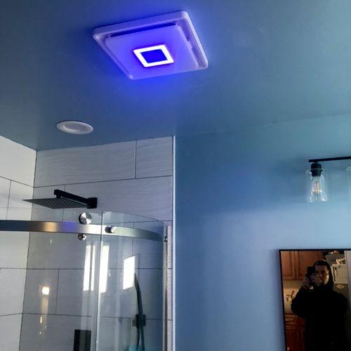 Bluetooth speaker and bathroom fan combo!