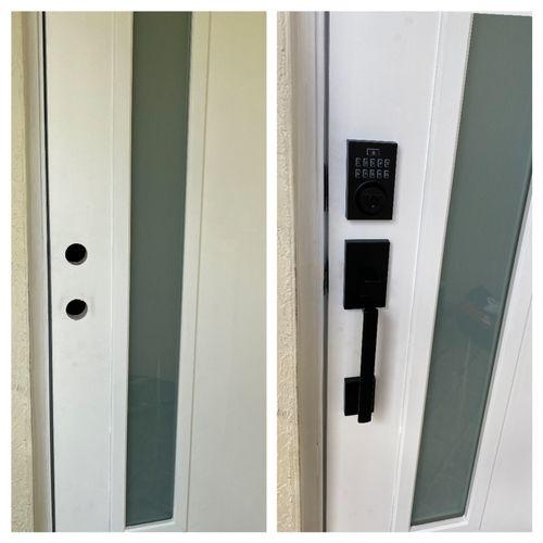 Brand new keyless lock installed.