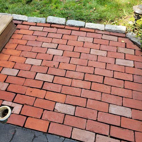 Brick (at base of stairs) after