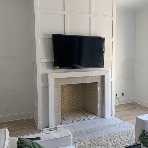 "Fireplace 55"" TV Mounting"