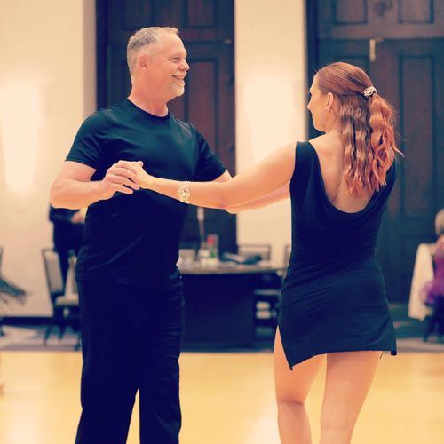 Competing with a student at Indianapolis Dancesport Competition 2021