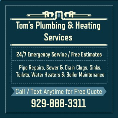 Avatar for Tom's Plumbing & Heating Services