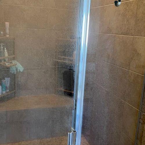 Shower Door Hard Water Stains