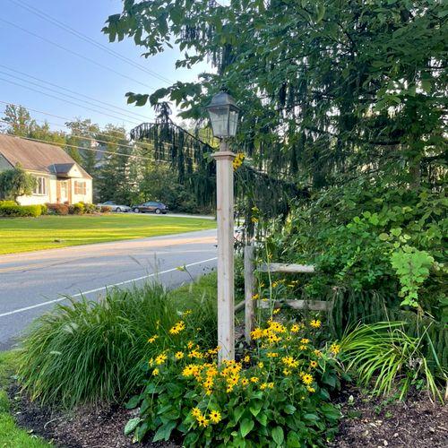 New cedar light post