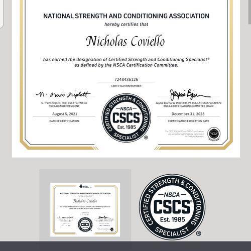 Certified CSCS