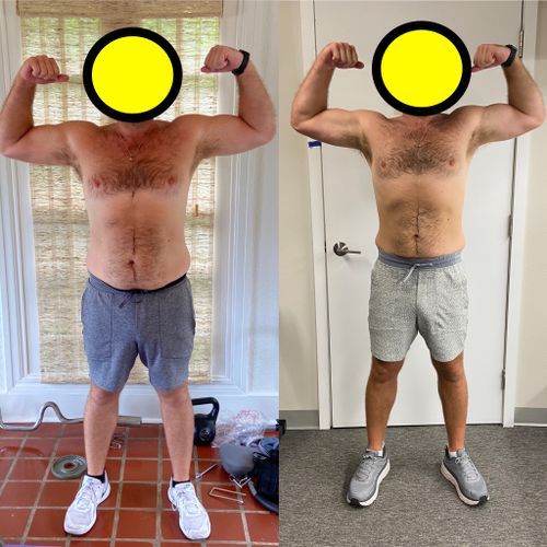 8 week difference with a one-on-one client