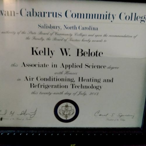 Associates degrees Heating,Air Conditioning and Refrigeration