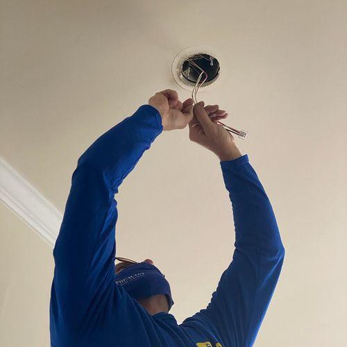 Installing a smoke detector!