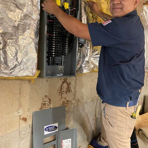 Electrical panel install!
