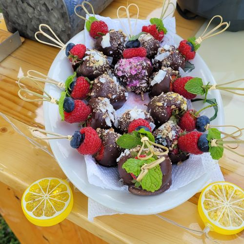 Will also do chocolate cover cherries or fruit of your choice!