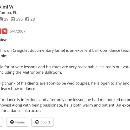 a YELP review