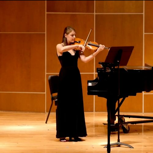 Performing my Masters recital in May 2019