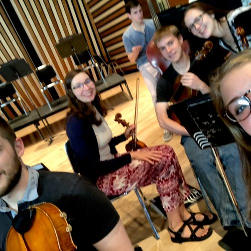 A rehearsal picture from NRO!  We performed over 30 concerts in 8 weeks