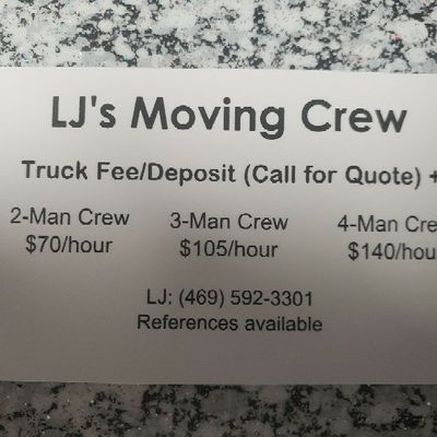 Avatar for LJ's Moving Crew
