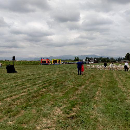 Ceremony setup at Enumclaw farm