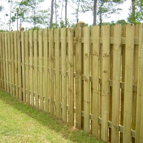 double sided dog ear fence with 3 inch spaces