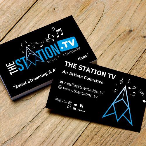 The Station.TV - Business Card Design