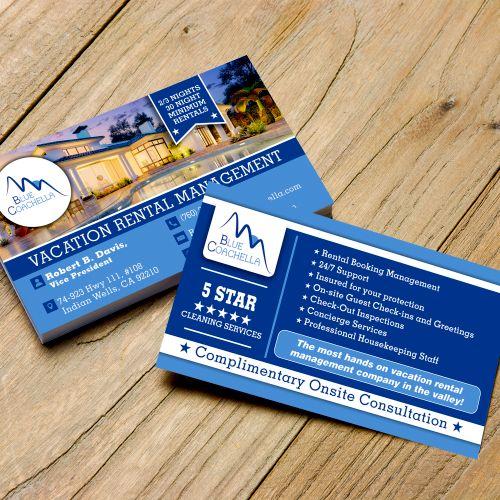 Blue Coachella- 2 Sided Business Card Design