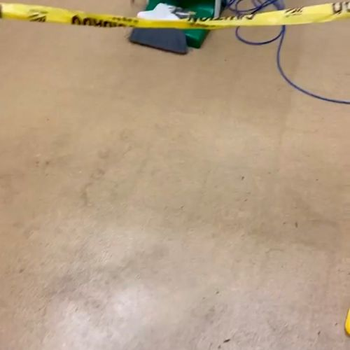 Before and after ….. cleaning a restaurant back floors