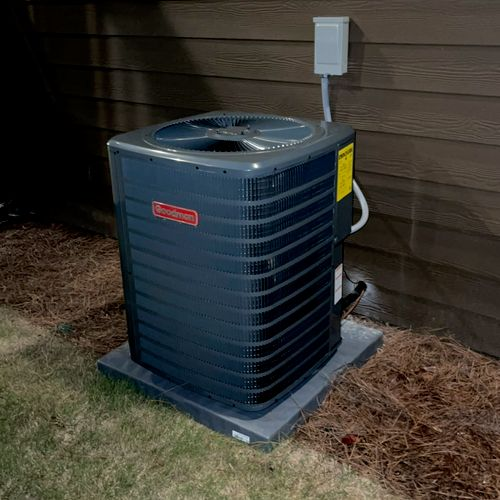 Installed AC for the basement
