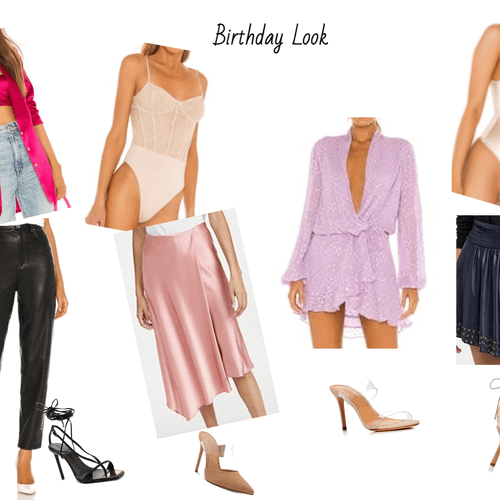 Client 40th birthday outfit options