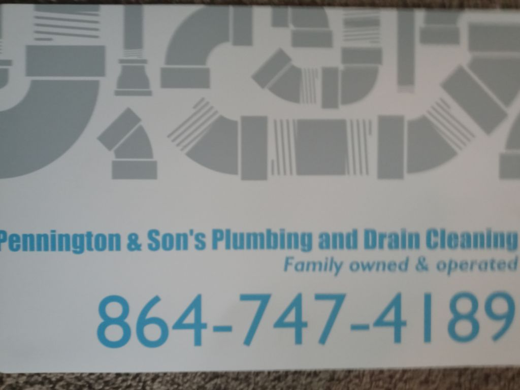 Pennington and sons plumbing and drain cleaning