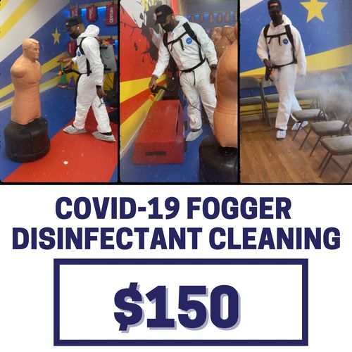 Give us a call to book your COVID-19 Disinfectant Cleaning