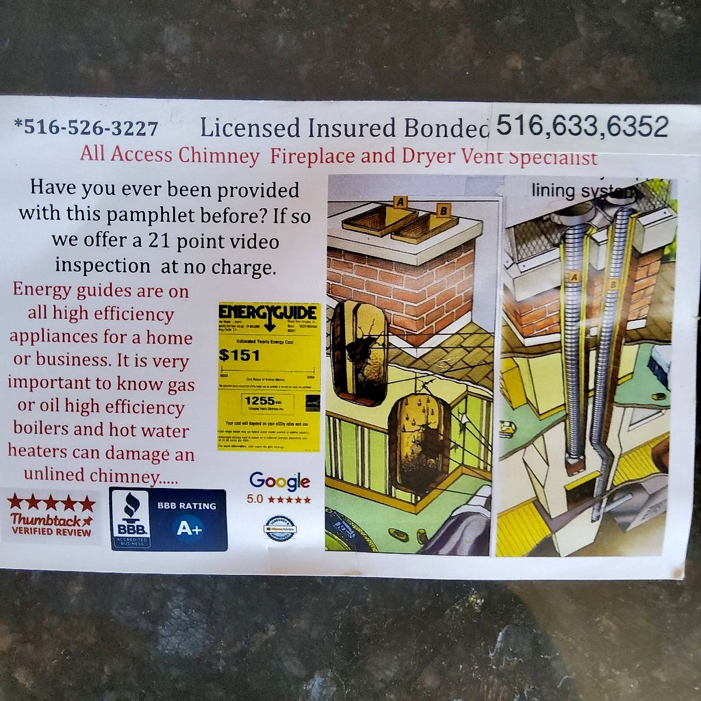 All Access Chimney & Fireplace  And dryer vent