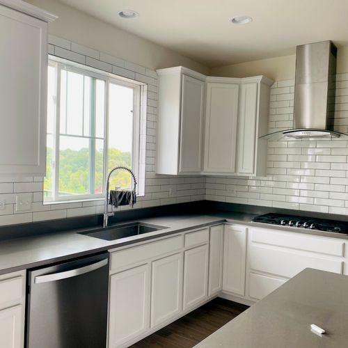 Kitchen backsplash project (subway tile 3x12) Naperville IL 09/02/2021