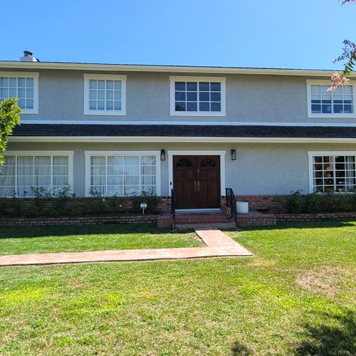 """We painted this Sherman Oaks Exterior in Sherwin Williams """"Light French Gray"""""""