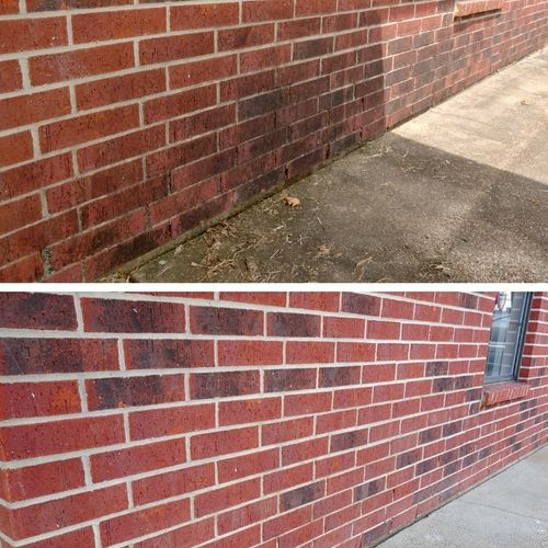 Damage-free brick cleaning