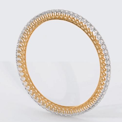 Custom 18K Rose Gold Diamond Bangle