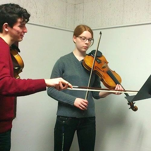 Viola lesson at the University of Rochester (2015).