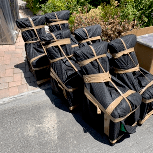 Packing chairs to avoid damage