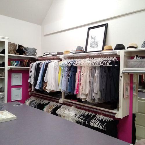Primary Closet - blouses, hats & shoes