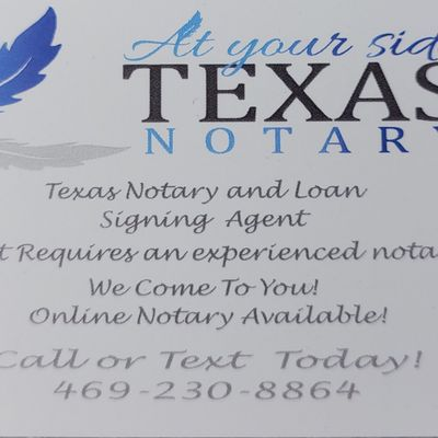 Avatar for AT YOURSIDE TEXAS NOTARY